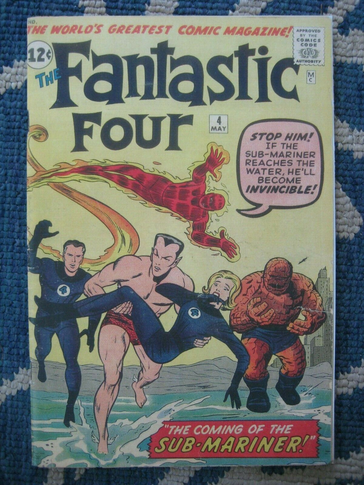 FANTASTIC FOUR #4 1962 1ST S.A. APP SUB-MARINER COVERLESS & INCOMPLETE(0.1}