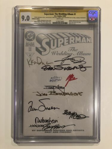 Superman: The Wedding Album #1 CGC 9.0 SS Murphy Anderson +George Perez +9 More