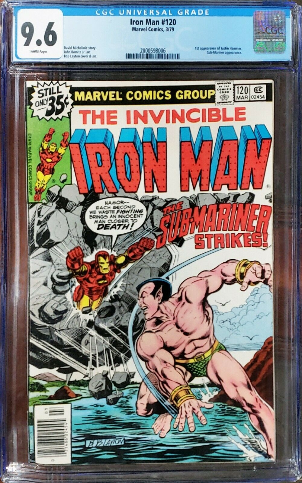 Iron Man 120 CGC 9.6 Sub-Mariner Marvel 1979