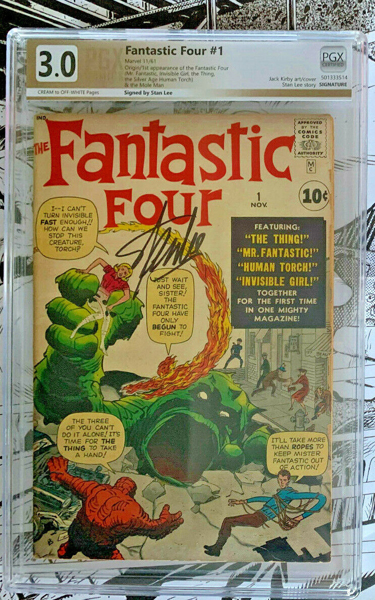 FANTASTIC FOUR #1  |  PGX 3.0  |  CR/OW  | 1st app/Origin  | Fantastic Four #1