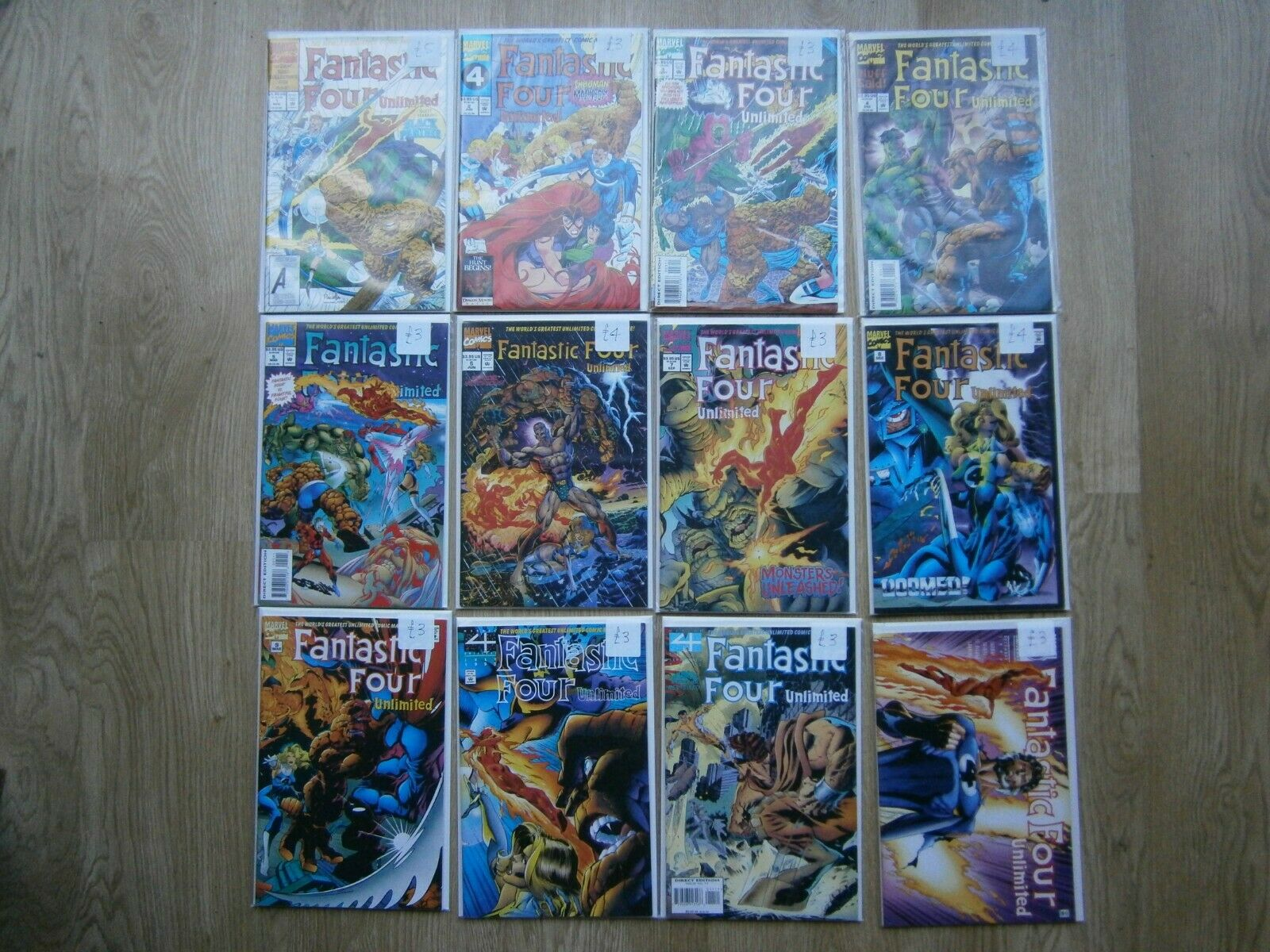 FANTASTIC FOUR UNLIMITED Collection. Complete run #1 to #12 1993-1996 FF Marvel