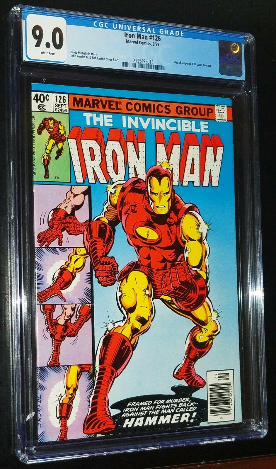 THE INVINCIBLE IRON MAN #126 1979 Marvel Comics CGC 9.0 VF/NM