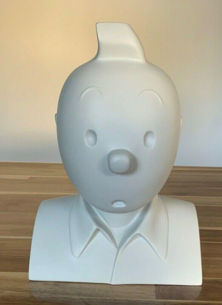 Buste Tintin par Regout monochrome gris. Pixi 1988 copyright Lombard