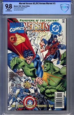 Marvel Versus DC #3 CBCS9.8 Jurgens Batman Superman Hulk Wonder Woman Spider-Man