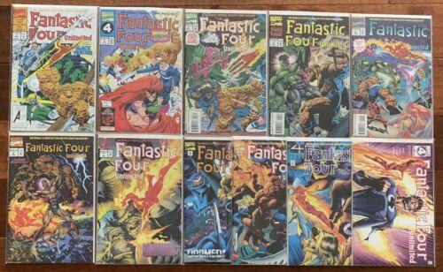 Fantastic Four Unlimited #1,2,3,4,5,6,7,8,9,10,12 1993 Marvel Comics Lot Set Nm