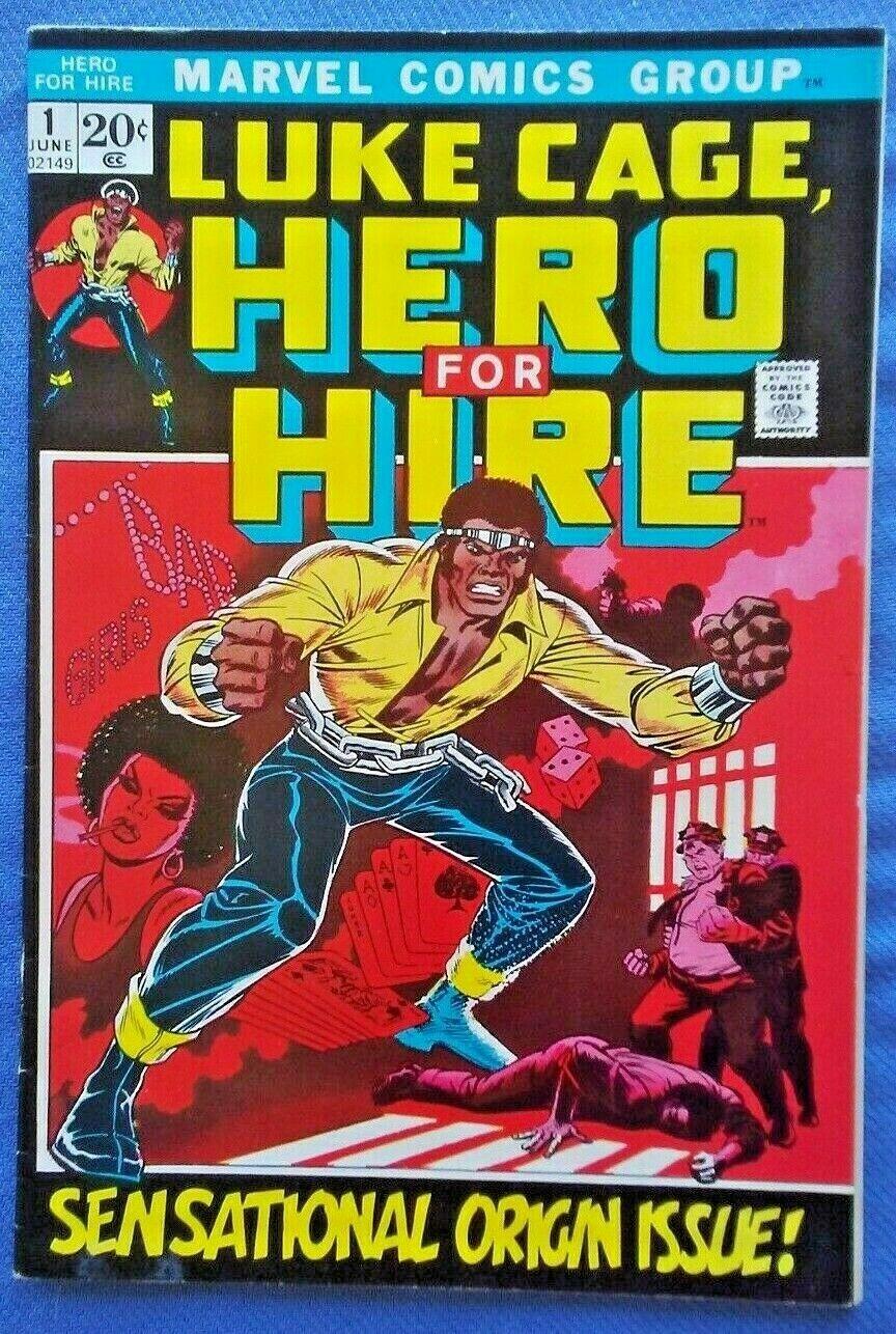 LUKE CAGE Hero for Hire #1, 1972 Marvel, LUKE CAGE ORIGIN ISSUE VF-