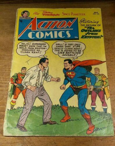 Action COMICS July #194 (1954) Golden Age - Rare Old Superman Comic