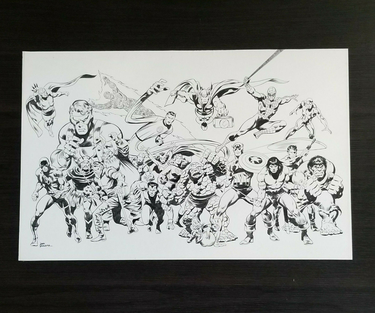 John Buscema FAMILY OWNED Original Artwork 1978 [1990s] Avengers Fantastic Four