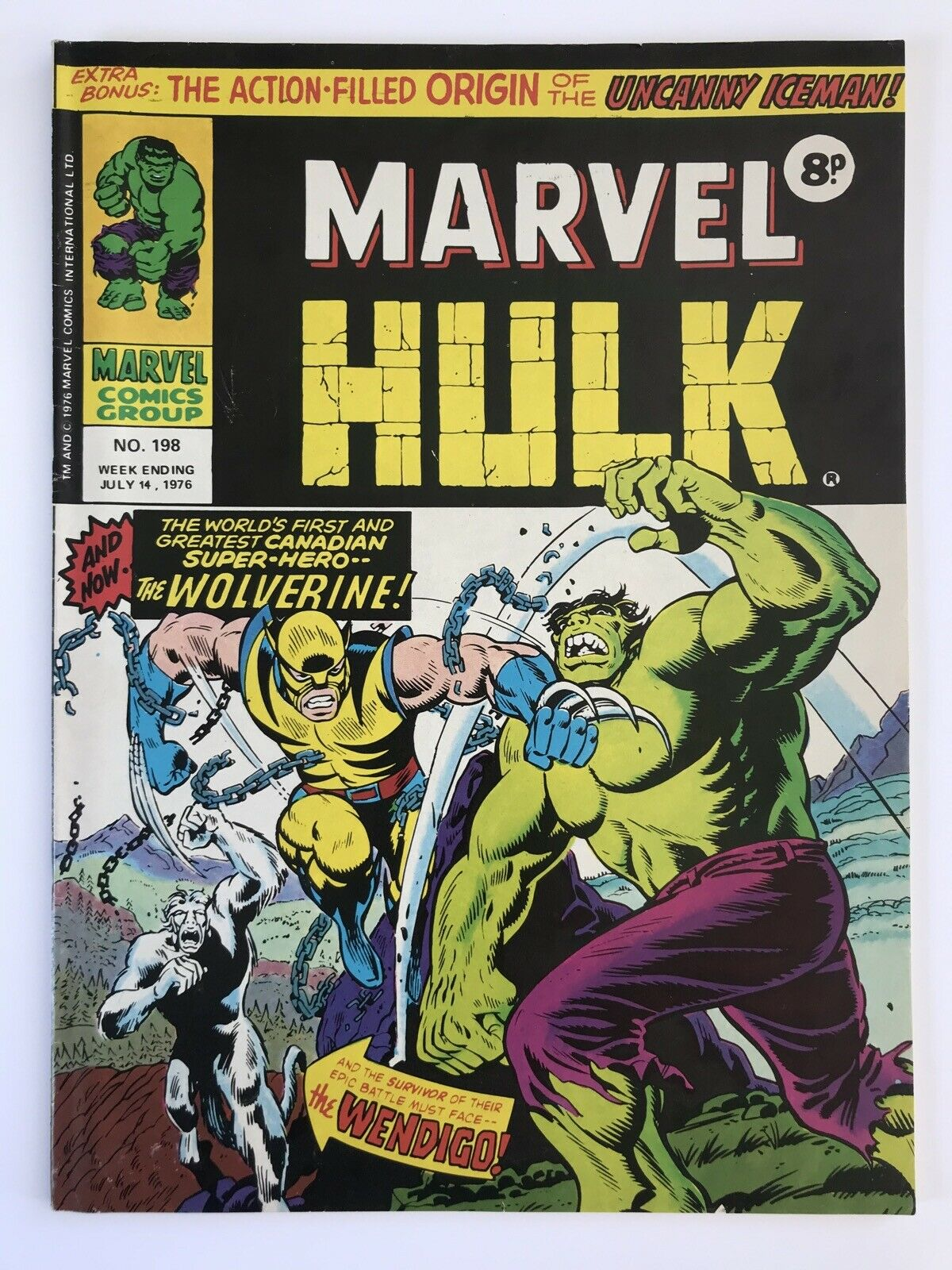 The Mighty World of Marvel  # 198  1st WOLVERINE UK Appearance 1976 VERY FINE **