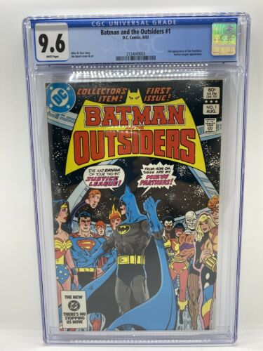 Batman and the Outsiders #1 CGC 9.6 White Pages, 2nd appearance of the outsiders