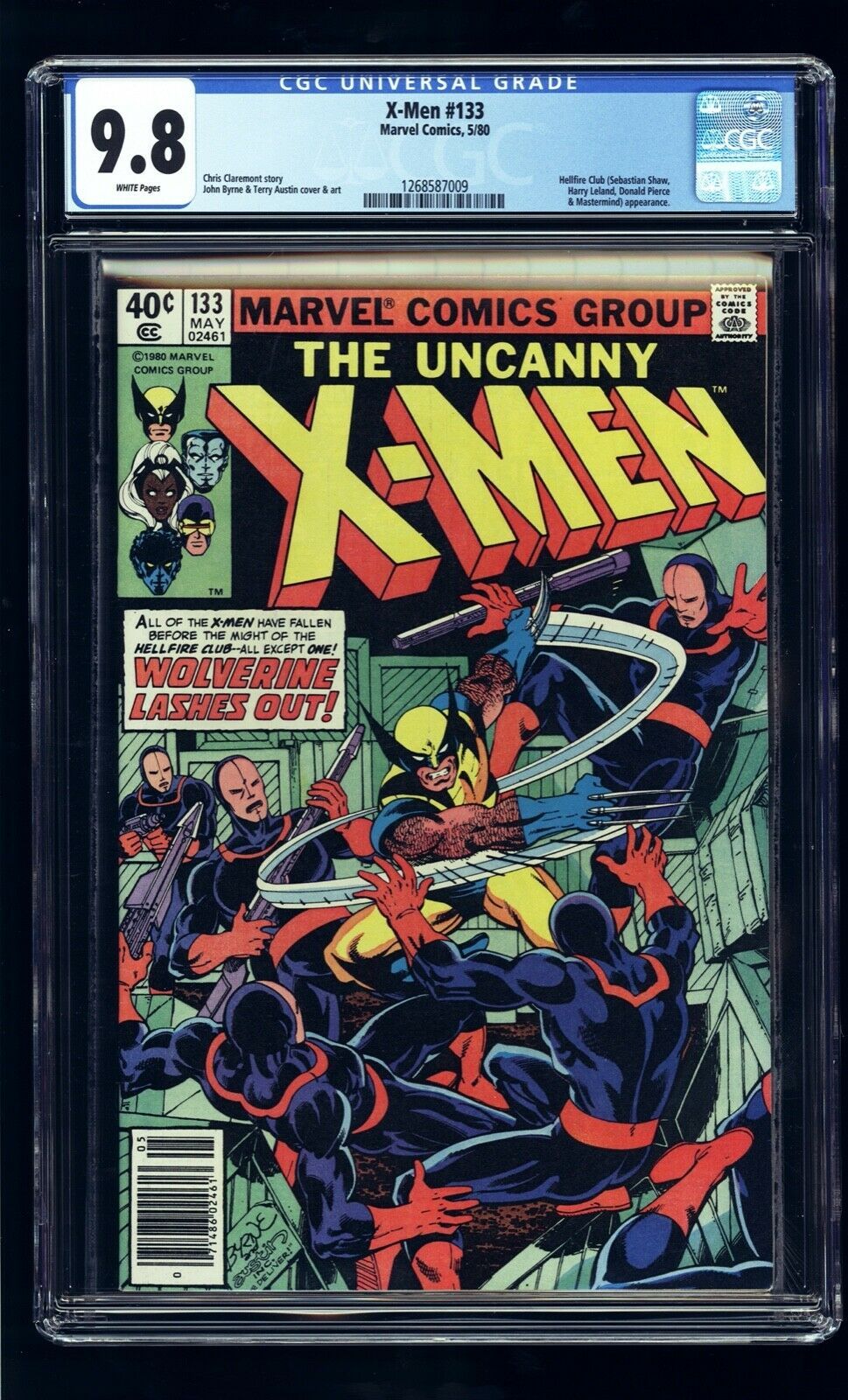 1980 UNCANNY X-MEN #133 CGC 9.8 WP NEWSSTAND 1ST WOLVERINE SOLO STORY