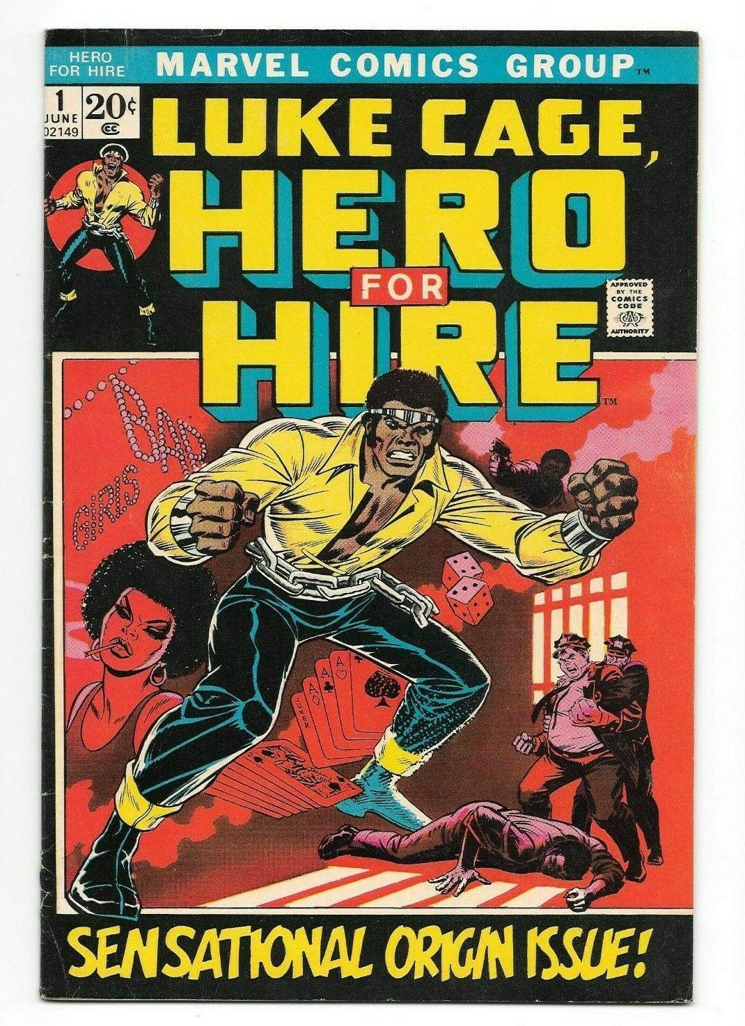 Hero For Hire #1 FN+ Key Issue Origin & 1st App. Luke Cage Power Man Marvel 1972