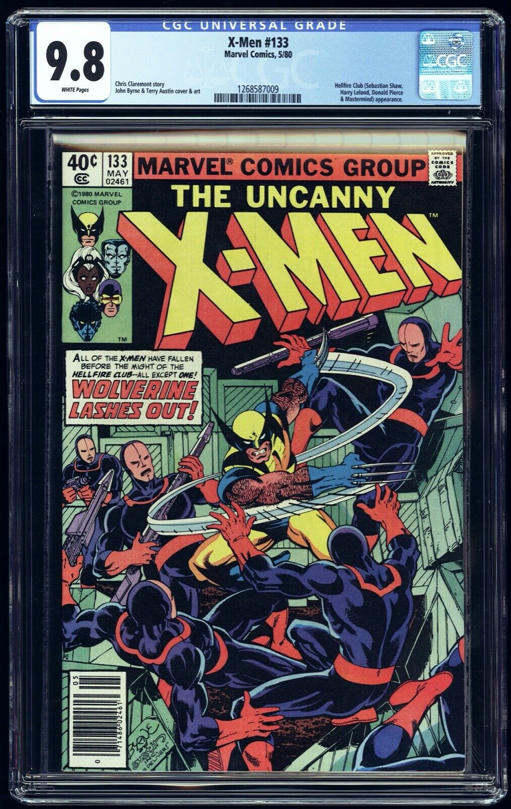 1980 UNCANNY X-MEN 133 CGC 9.8 WP NEWSSTAND 1ST WOLVERINE SOLO STORY Marvel
