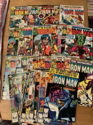 32 x The Invincible Iron Man Comic Lot, #86, 108  122 -125, 127-145, 147-154,156
