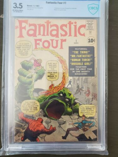 Fantastic Four #1 CBCS 3.5 Marvel 1st Appearance of Fantastic Four Coming To MCU