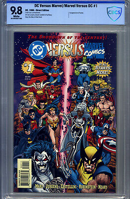 Marvel Versus DC #1 CBCS 9.8 Batman Superman Wonder Woman Spider-Man 1st Access