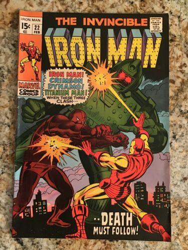 The Invincible Iron Man #22   VERY FINE VF   (1970, Marvel Comics)