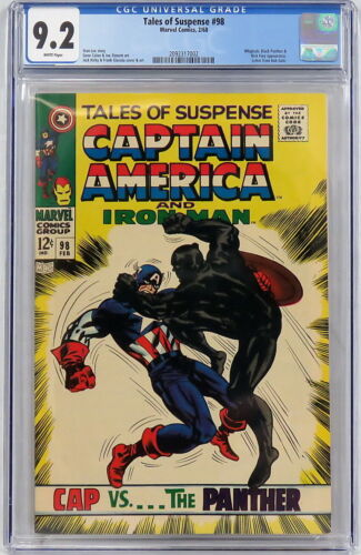 Marvel Comics Tales of Suspense #98 CGC 9.2 Black Panther Lee Jack Kirby 1968