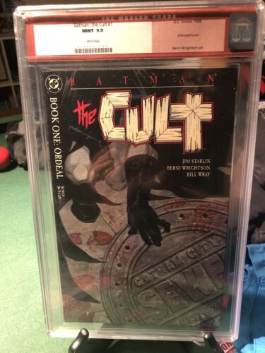 BATMAN: THE CULT #1 - EMBOSSED COVER - 1988 - CGC 9.9 WHITE PAGES Better 9.8