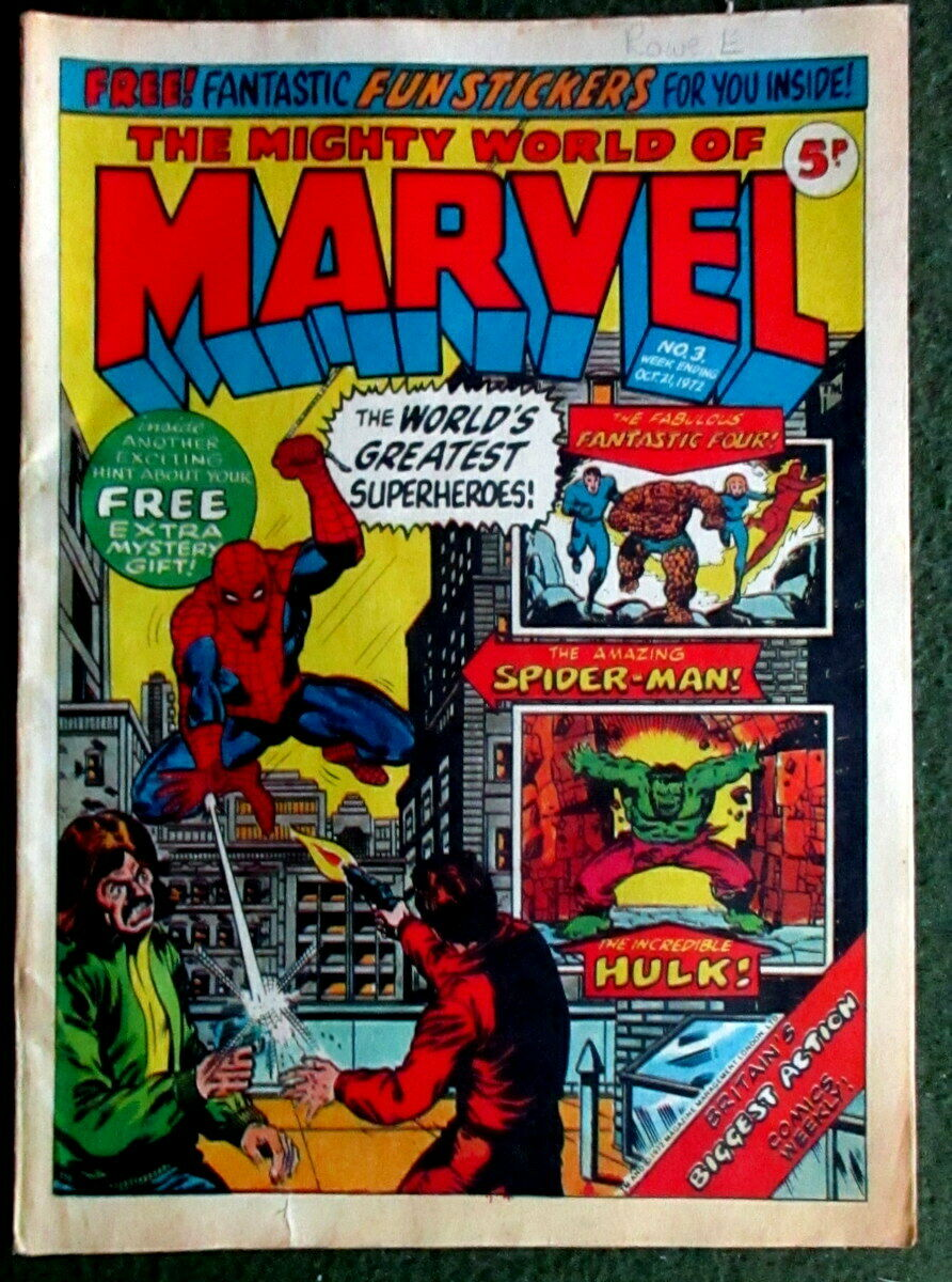 LOOK: The Mighty World of Marvel 1972 - No. 3 - 1972 Comic Book + FREE GIFT
