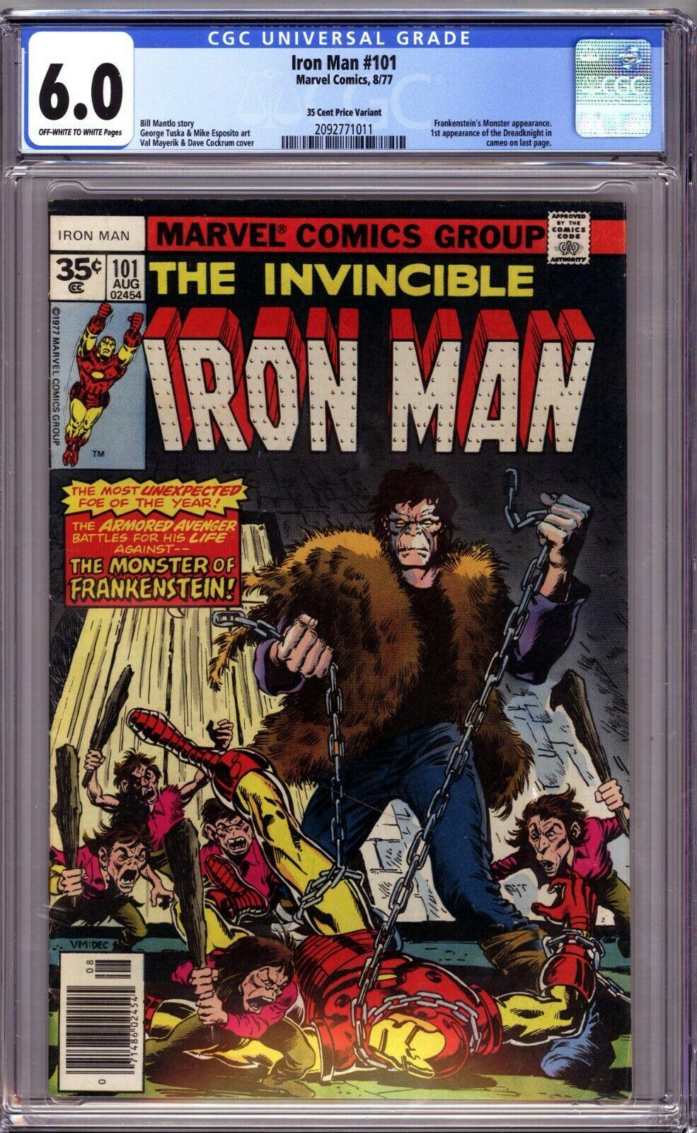 IRON MAN #101 RARE 35 CENT COVER PRICE VARIANT CGC 6.0 FINE MARVEL 1977 NO RSRVE