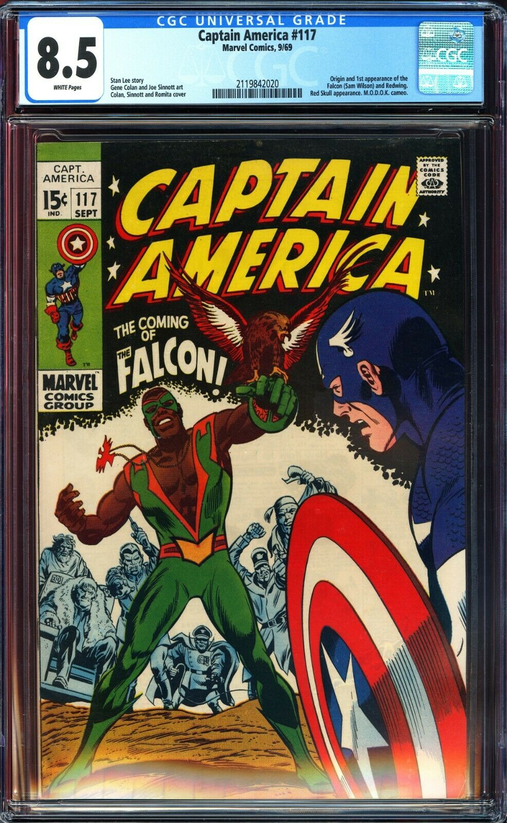 Captain America #117 CGC 8.5 & #118 CGC 8.0 & #119 CGC 9.0 1st,2nd & 3rd Falcon