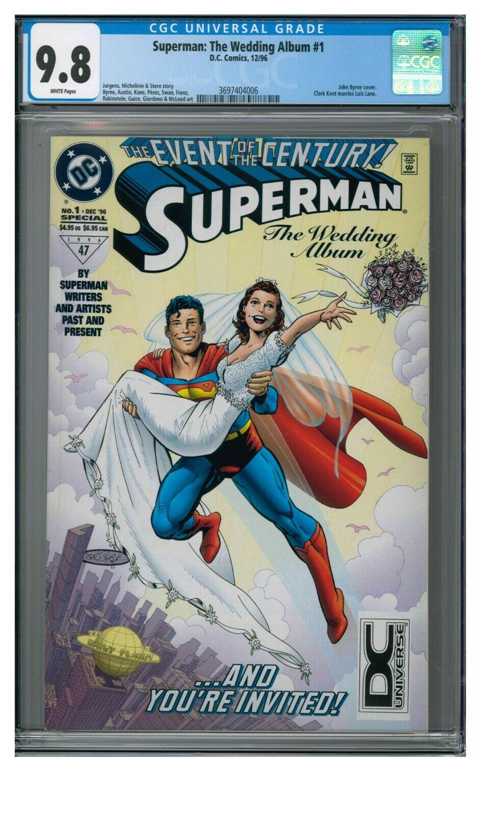 Superman: The Wedding Album #1 (1996) DC Universe Logo Variant CGC 9.8 GG954