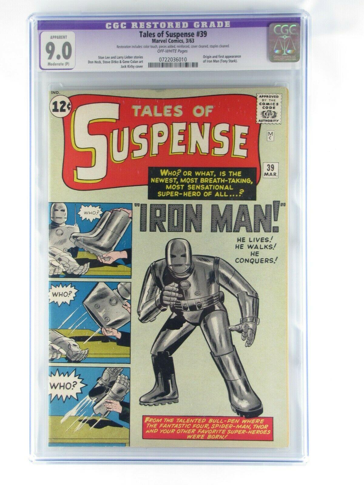 Tales of Suspense 39 Marvel 3/1963 Stan Lee CGC 9.0 R NM 1st App/Origin Iron Man