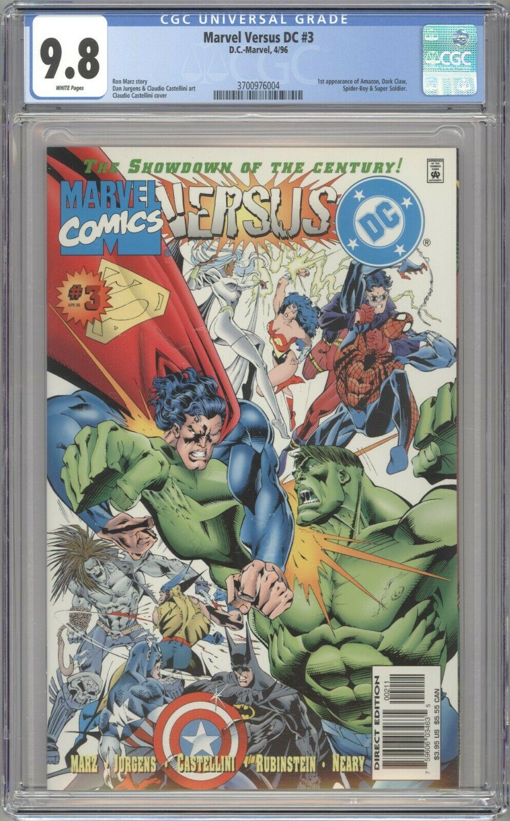 Marvel Versus DC #3 (1996) CGC 9.8 Dark Claw, Spider-Boy, Super Soldier, Amazon