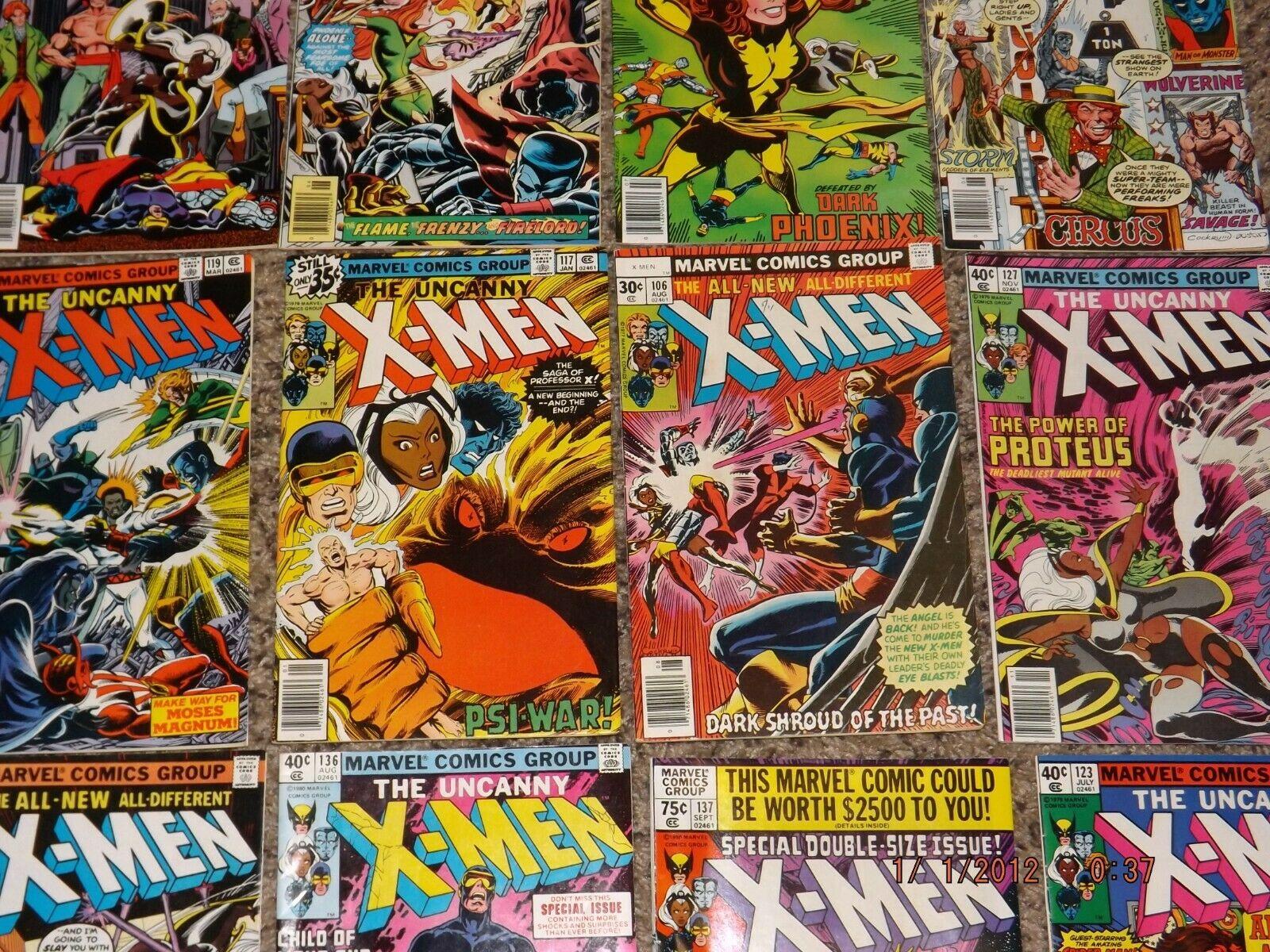 Uncanny X-Men 70s Mixed LOT of 12 #105 106 110 111 117 119 123 127 132 135 136-7