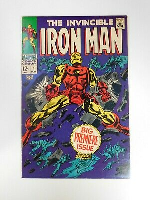 Iron Man #1 VF- condition Free shipping on orders over $100.00