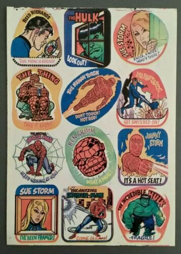 MIGHTY WORLD OF MARVEL COMIC #3 ORIGINAL FREE GIFT STICKERS ONLY 1972 RARE