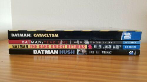 Batman Lot of 4 TPB The Dark Knight Returns, Year One, Hush, Cataclysm Rare OOP