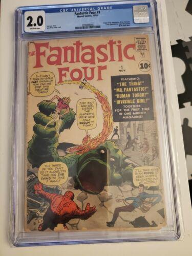Fantastic Four #1 CGC 2.0 1961 1st Fantastic Four